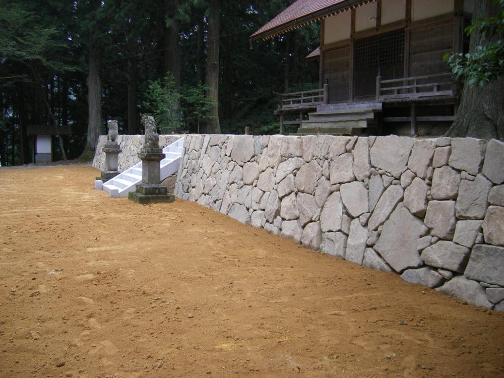 門造園土木 施工事例 静粛なる石積の杜