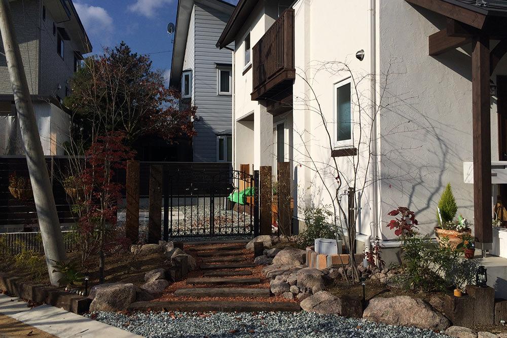 門造園土木 施工事例 洋風ガーデン