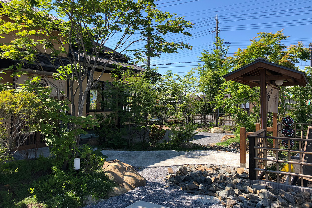 門造園土木 施工事例 和カフェ