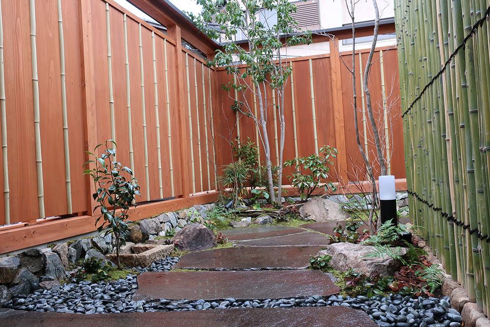 門造園土木 施工事例 おもてなしの路地庭